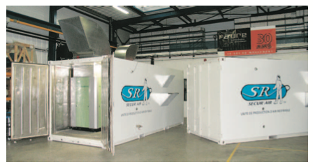 Containers de production d'air respirable
