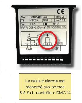 Contrôleurs pour sécheurs ACT : Comment paramétrer le report d'alarme ?