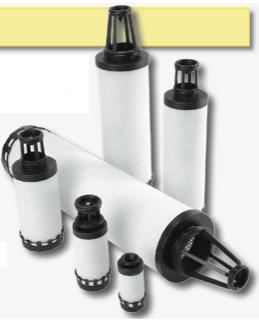 Nouveaux éléments filtrants adaptables à Domnick-Hunter