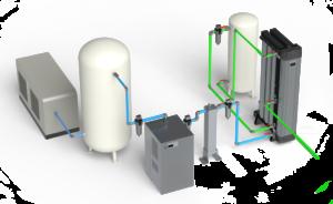 Schéma installation générateur d'azote