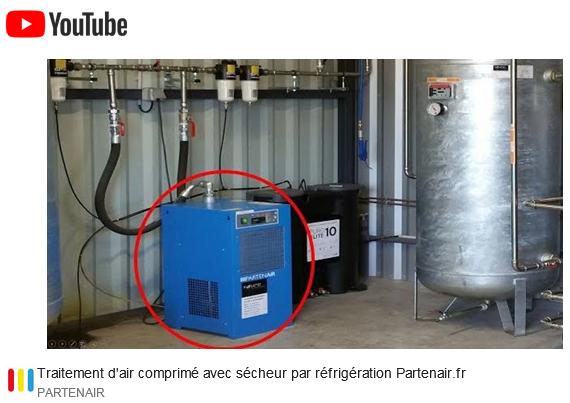 Traitement d'air comprimé avec sécheur par réfrigération