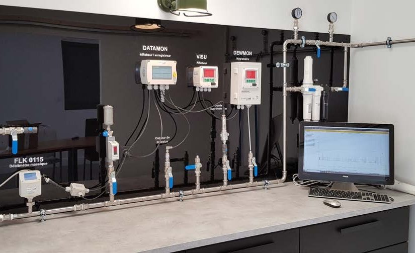 Laboratoire mesure pour air comprimé