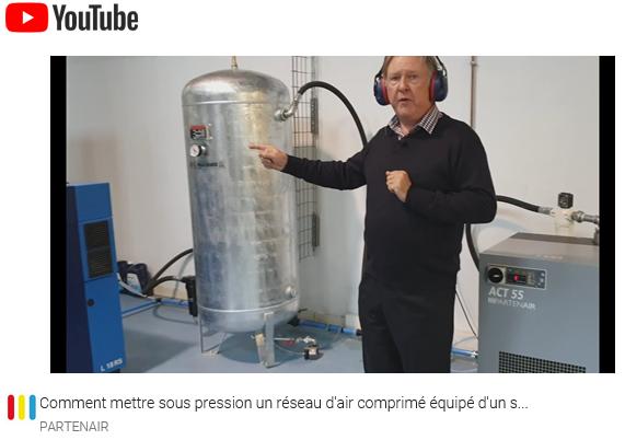 Comment mettre sous pression un réseau d'air comprimé équipé d'un sécheur par réfrigération