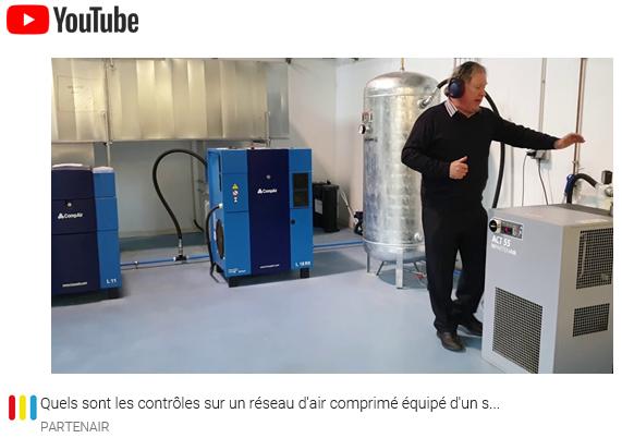Quels sont les contrôles visuels sur un réseau d'air comprimé équipé d'un sécheur par réfrigération